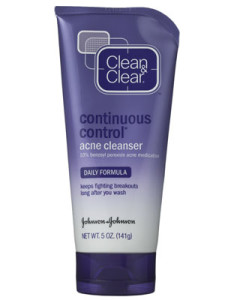 Step 2: Clean & Clear Continuous Control Acne Cleanser
